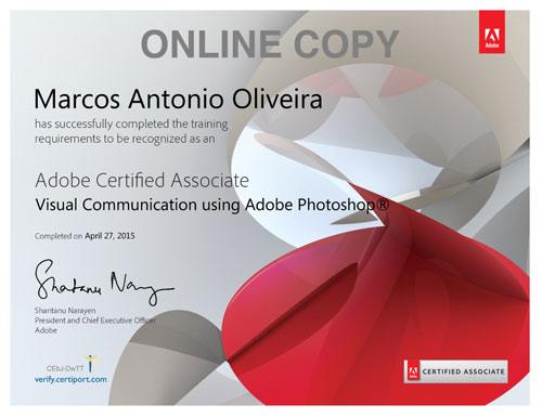 Adobe Photoshop Certificate